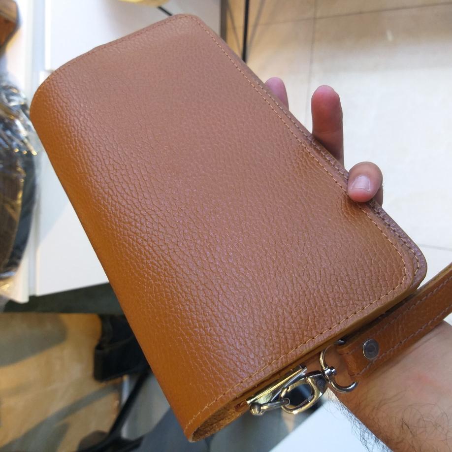 کیف دستی چرم اصل گاوی  (قهوه ای)